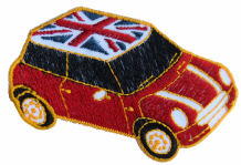 Mini One With Union Jack Roof Car Embroidered Patch  - A536